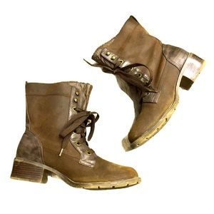 Sporto Brown Leather Lace Up Boots 10